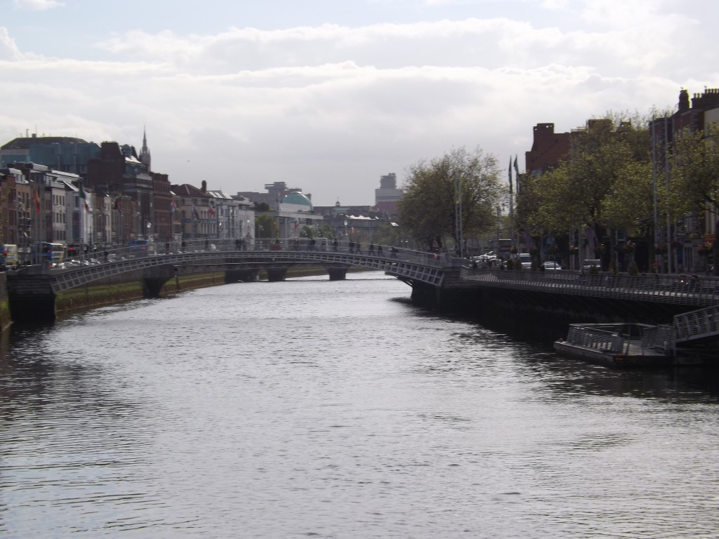 This is the River Liffey in Dublin.