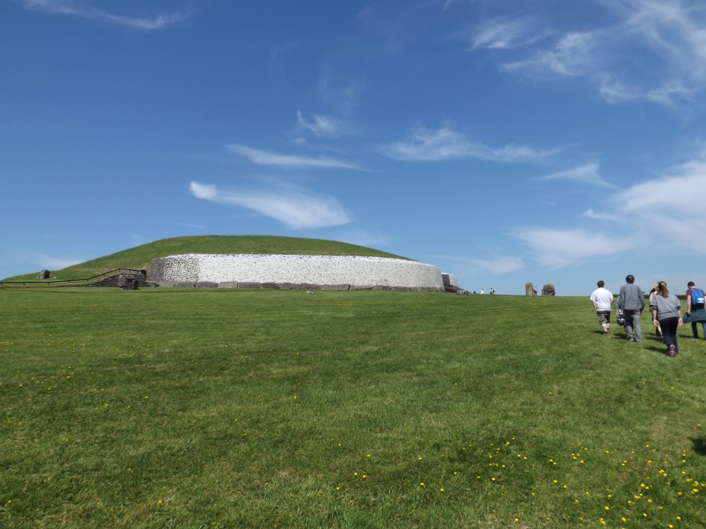Newgrange from the outside. The exterior had to be reconstructed because it had deteriorated, but the interior remained completely intact.