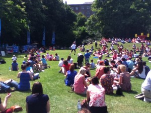 This was one performance at the Street Performance World Championship, on July 12 in Merrion Square.